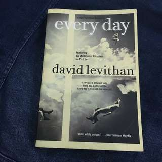 Book: Every Day by David Levithan