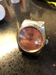 Rolex Datejust 16234 36mm Salmon pink and Roman numbers dial
