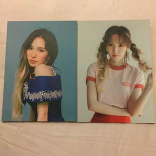 Red velvet wendy red flavour postcard