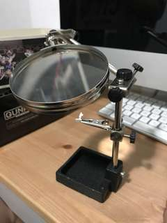 Magnifying glass with grip and stand for model kit / miniature handcraft