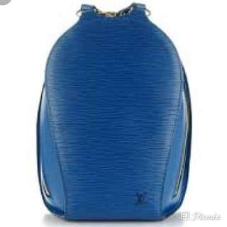 LV epi leather backpack