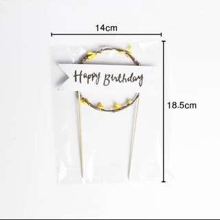 生日蛋糕花環燈飾裝飾/插牌