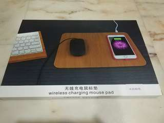 Wireless charging mouse pad brown
