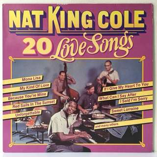 Nat King Cole ‎– 20 Love Songs (1983 Italy Pressing - Vinyl is Mint)