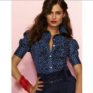 Victoria secret polka dot short Sleeved shirt