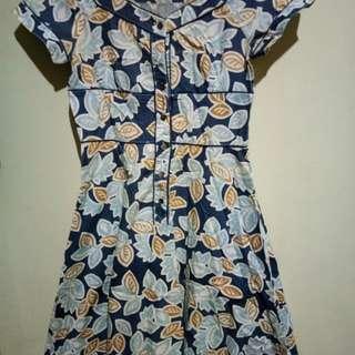 Dress motif daun2