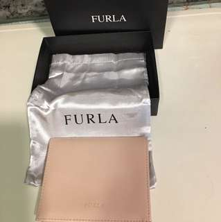 Furla 粉色銀包