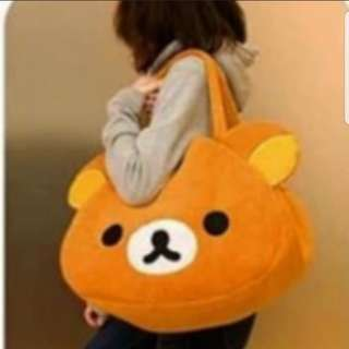 In stock San x Rilakkuma travel bag casual bag  size is 34 × 42 × 20cm