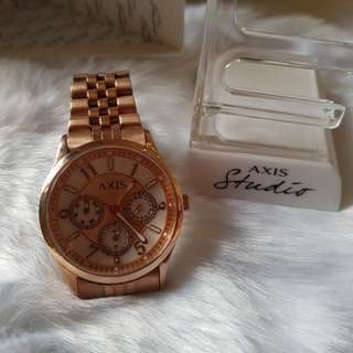 BNEW Original Rosegold Axis Studio Watch (med-dial) retails at Php5490