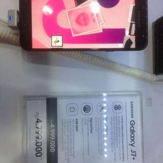 Samsung J7+ Cash Back 300.000 & Gratis 1x Angsuran