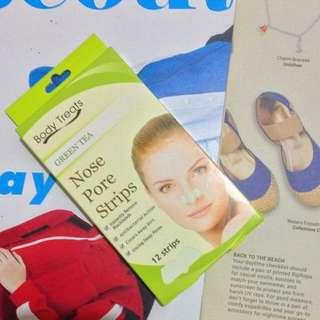 Body Treats Nose Pore Strips Green Tea