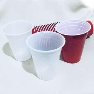 Basic Beer pong set - Red with white wash cups