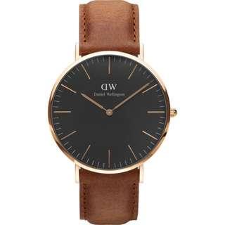 Daniel Wellington Classic Black 36mm watch (strap Colour optional )