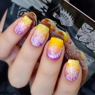 Indian dream catcher nail art stamp stamping template plates nail stamp feather