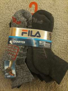 Authentic Fila Socks (10 pairs)