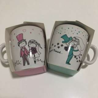 Wedding Favour Mugs (Pink & Turquoise)
