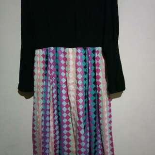 Dress black n tribal