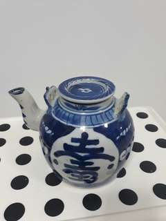Old Porcelain Teapot