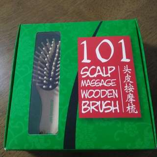 101 Scalp Massage Wooden Brush Set