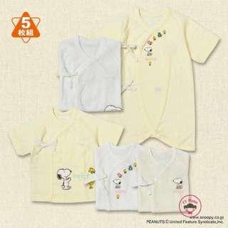 日單SNOOPY新生兒5️⃣件套裝 (3件和尚袍 + 2件夾衣)