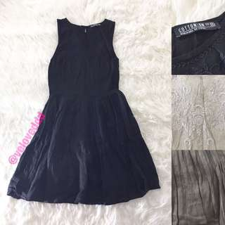 Cotton on black bordir dress