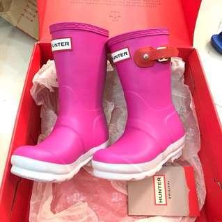 Hunter rainboots eur 25 超靚水鞋