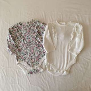 Mothercare Set of 2 Bodysuits