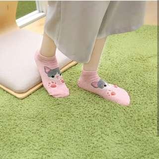 Korean 3D Paws Animal Ankle Socks Iconic Socks 100% Cotton