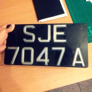 Chrome Car Plate (LUXURY EDITION)