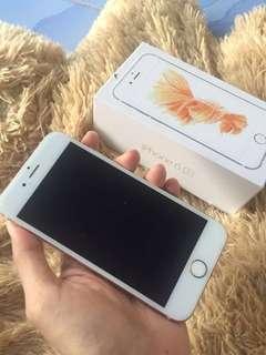 Iphone 6s 16gb Rose gold,fullset imei icloud aman mulus pemakaian sy pribadi free packing kayu