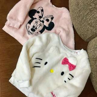 HNM hello kitty and Mickey Sweater