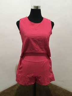 Fuschia Pink Romper