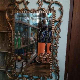 Cermin muka kerawang antik