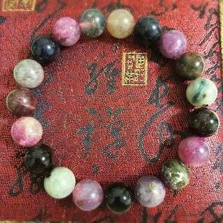 Sakura Tourmaline Crystal Bracelet 樱花碧玺手串