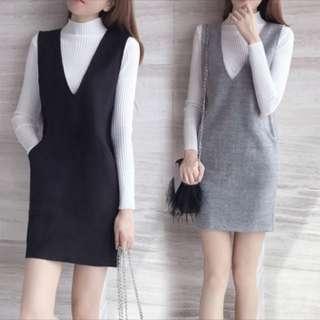 Two Piece Vest Dress