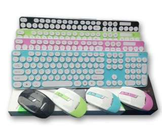 全新馬卡龍無線鍵盤滑鼠組合