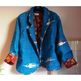 Vintage oversize jacket with beautiful lining fr Australia free size