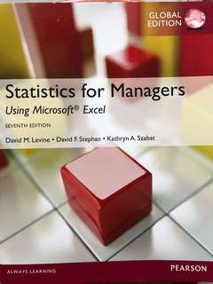 Statistics for Managers