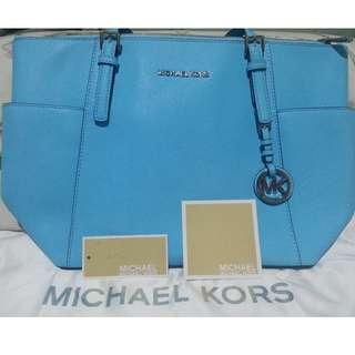 Michael Kors Aquamarine Jet set Tote Bag