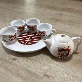 Wedding ceremony tea set