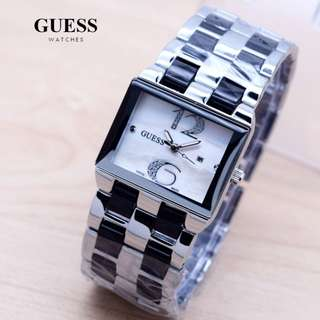 GUESS SQUARE SILVER STAINLES