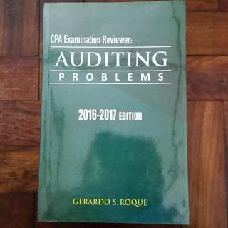 CPA Reviewer: Auditing Problems - Gerardo S. Roque