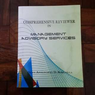 CPA Reviewer: Management Advisory Services - Dean Apolinario D. Bobadilla