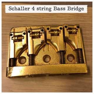 Schaller 4 String Bass Bridge