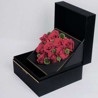 Flowers & Gifts Box-Double Layers Box-Heart Shape Flowers Arrangement Box-Cake Box