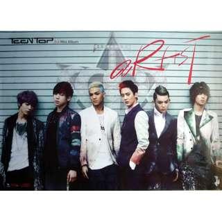 Teen Top 3rd mini Album Poster 專輯海報 橫版 Horizontal Version 90x62cm