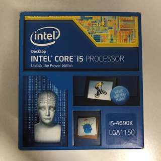 Intel core i5-4690K processor. LGA1150
