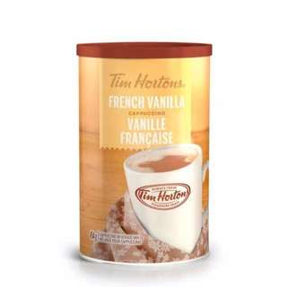 Tim Hortons French Vanilla cappuccino/ Hot Chocolate drink