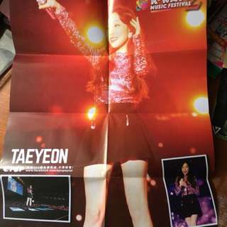 Taeyeon poster ( folded )