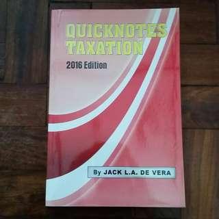 CPA Reviewer: Quicknotes Taxation - Jack L.A. de Vera